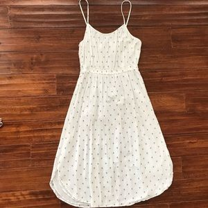 EUC Loft White Sundress